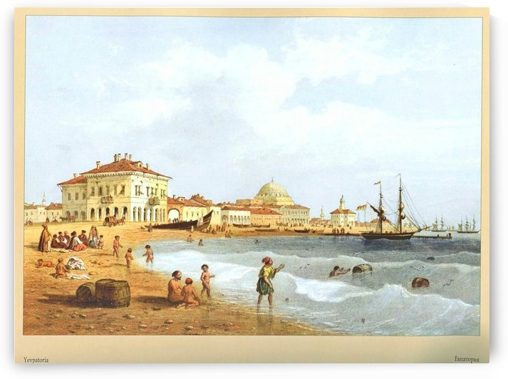 A view of Yevpatoria by Carlo Bossoli
