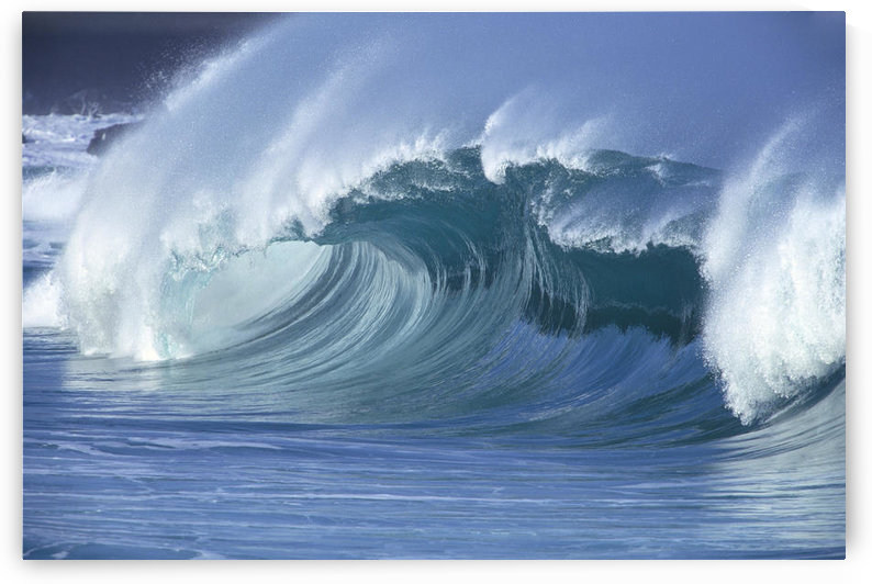 Hawaii, Large Wave Curling With Glassy Conditions A31B by PacificStock