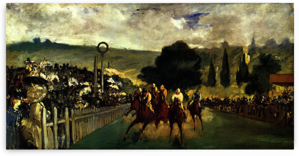 Race at Longchamp by Edouard_Manet by Edouard Manet