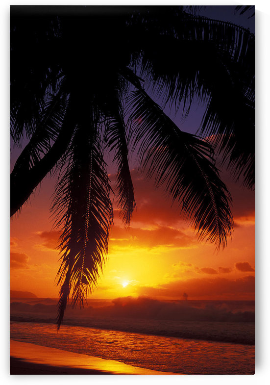Hawaii, View Of Sunset From The Beach by PacificStock