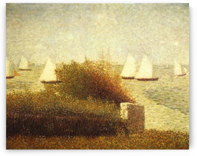 Race in Grandcamp by Seurat by Seurat