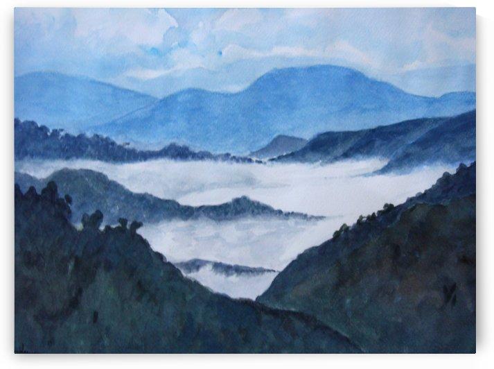 Foggy Landscape by Pracha Yindee