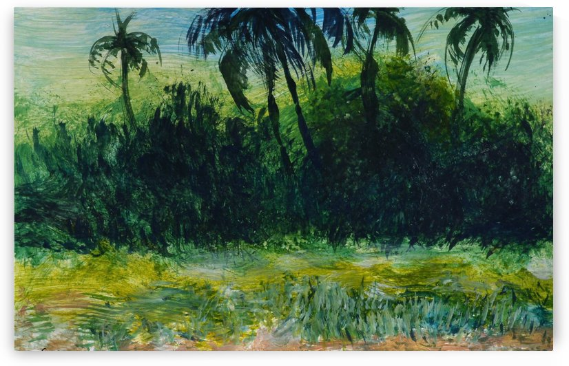 Coconut Palms by Pracha Yindee