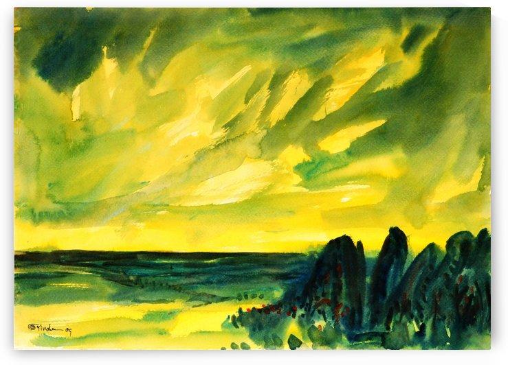 sea and sky by Pracha Yindee