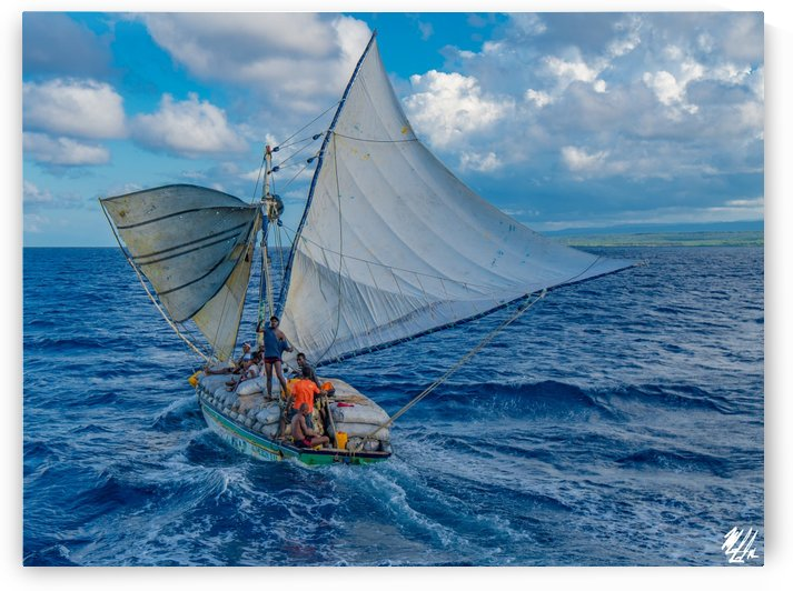 Downwind Charcoal Sail by HaitiUncut