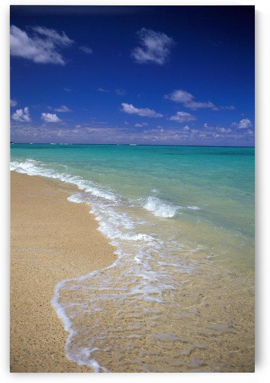 Hawaii, Oahu, Lanikai Beach Shoreline With Beautiful Turquoise Ocean by PacificStock
