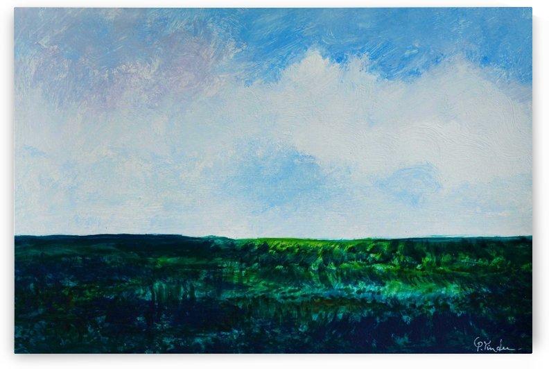 Green Fields 3 by Pracha Yindee