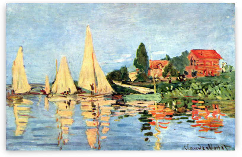 Regatta at Argenteuil by Monet by Monet