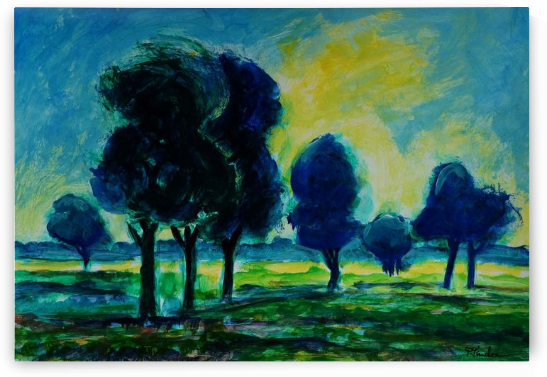 Green Trees2 by Pracha Yindee