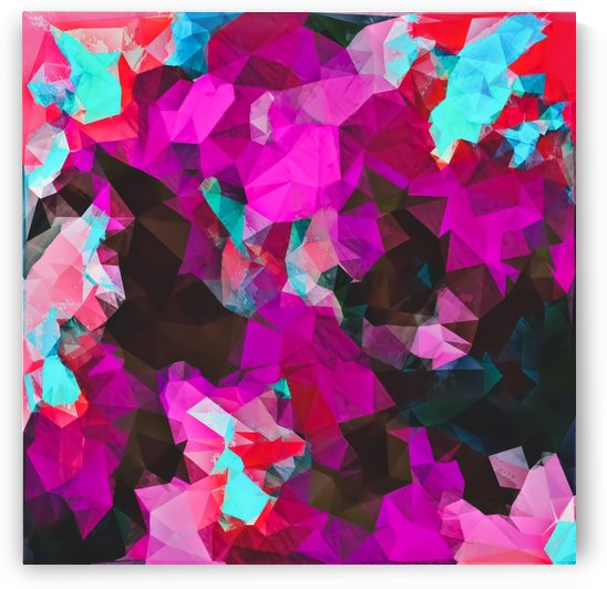 psychedelic geometric polygon abstract pattern in purple pink blue by TimmyLA