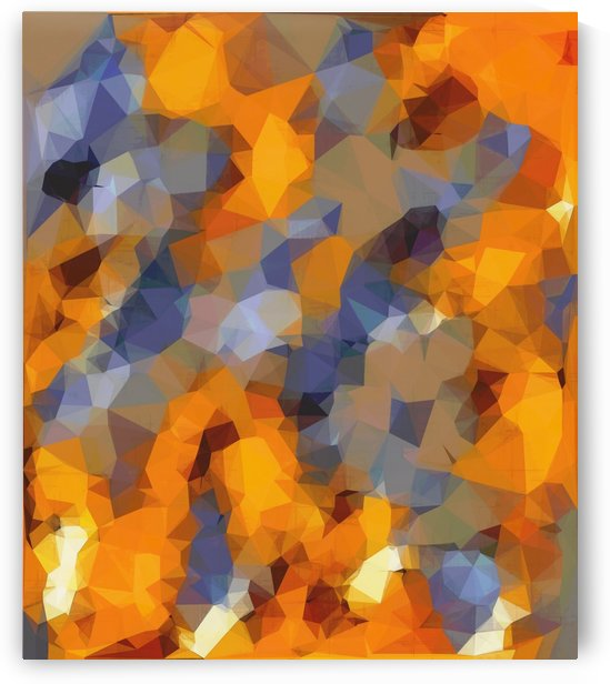 psychedelic geometric polygon abstract pattern in orange brown blue by TimmyLA