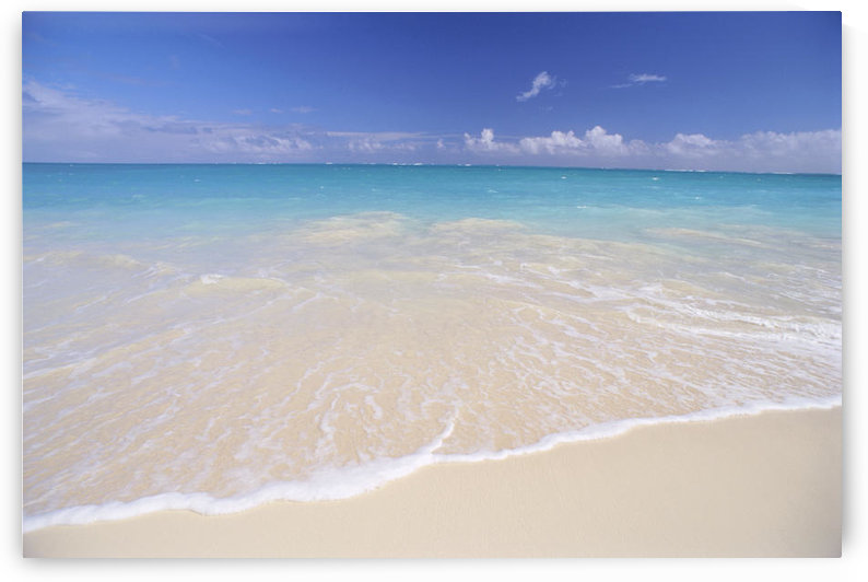 Hawaii, Beautiful White Sand Beach With Turquoise Water, Blue Sky by PacificStock