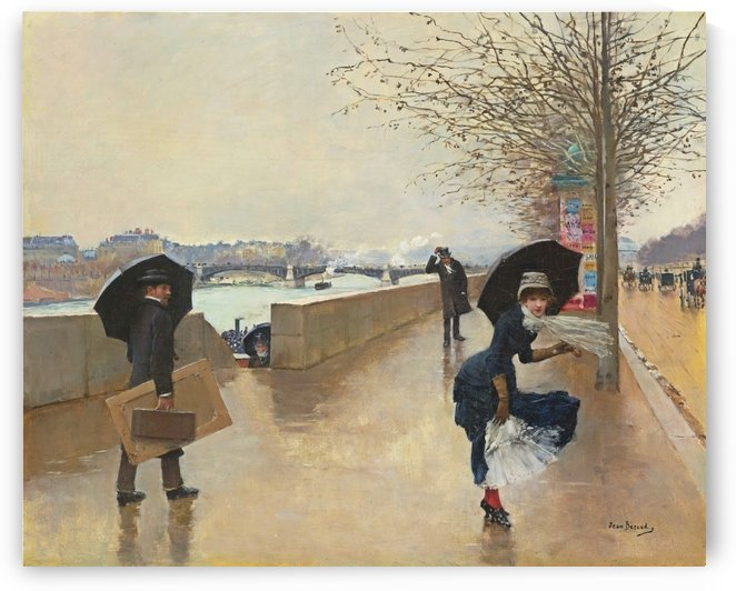 Le vent by Jean Beraud
