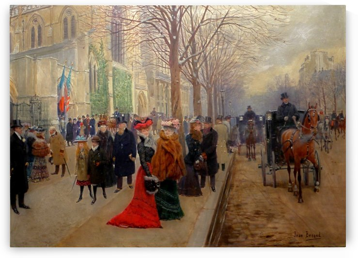 After the Service at the Church of Sainte-Trinite by Jean Beraud