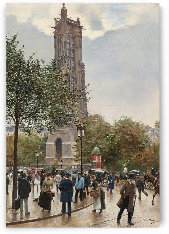La tour Saint-Jacques by Jean Beraud