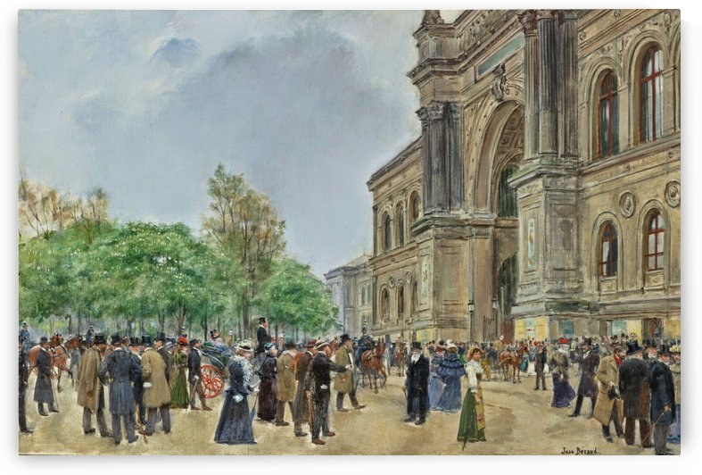 The opening day of the Salon by Jean Beraud