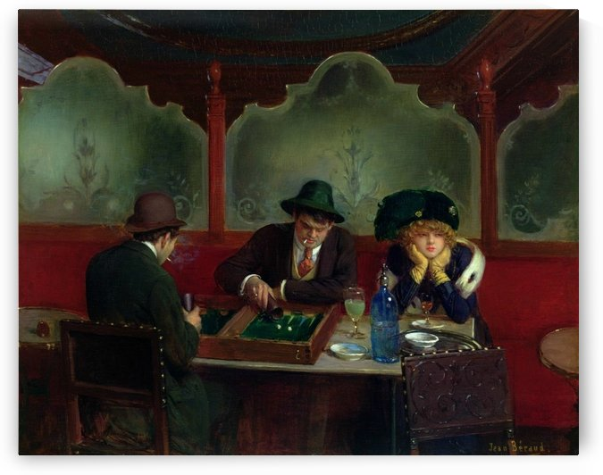 The Backgammon players by Jean Beraud