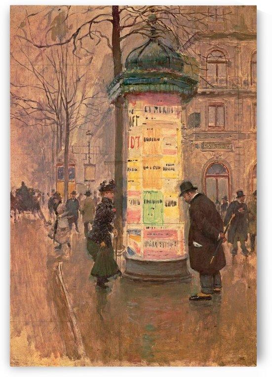 La colonne Morris by Jean Beraud