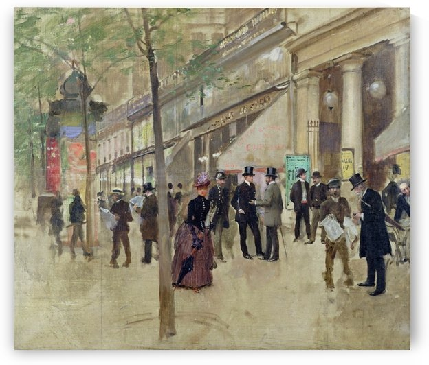 The Boulevard Montmartre and the Theatre des Varietes by Jean Beraud