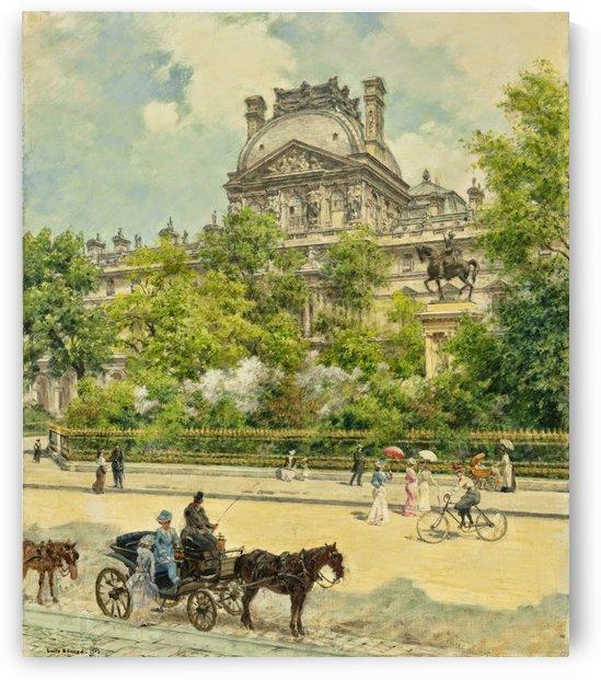 La Place du Louvre by Jean Beraud