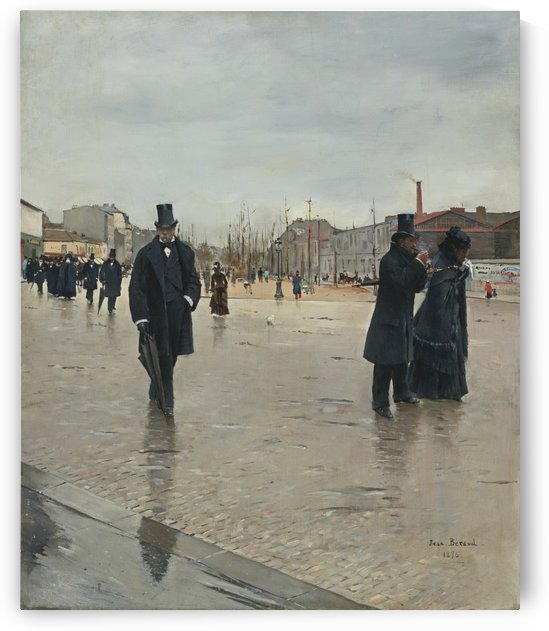 Leaving Montmartre Cemetery by Jean Beraud