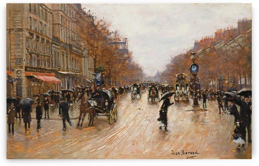 Scene de boulevard a Paris by Jean Beraud