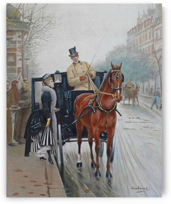 Lady entering the carriage by Jean Beraud