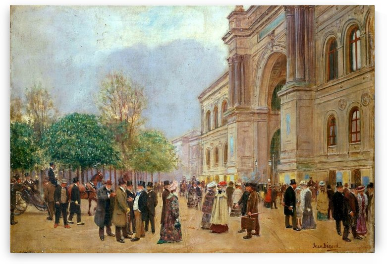 Opening day of the salon by Jean Beraud