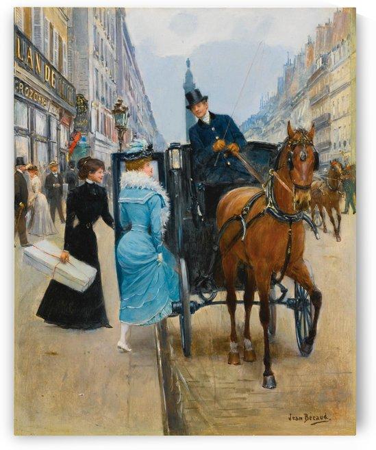 Ladies entering the carriage by Jean Beraud