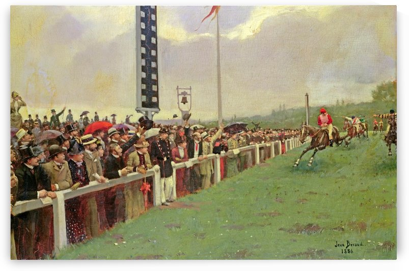 The races at Longchamps, 1886 by Jean Beraud