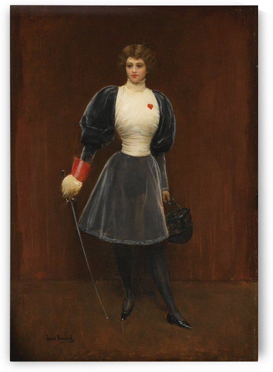 The fencer by Jean Beraud