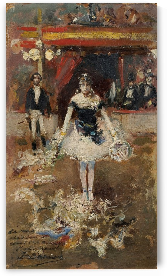Ballet dancer in a circus by Jean Beraud