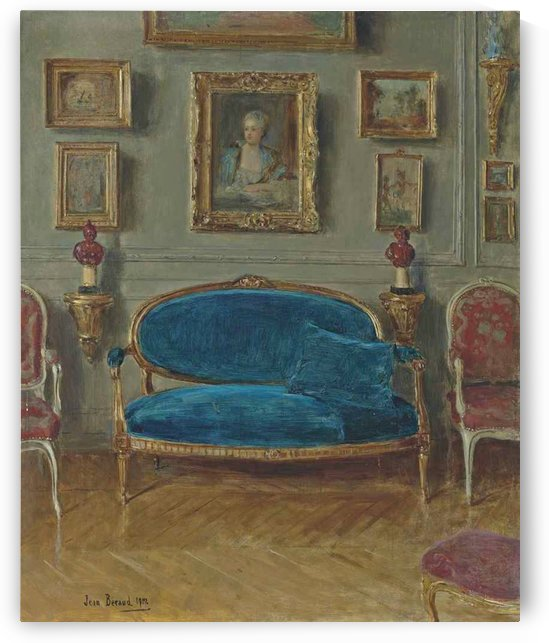 Le canape bleu by Jean Beraud