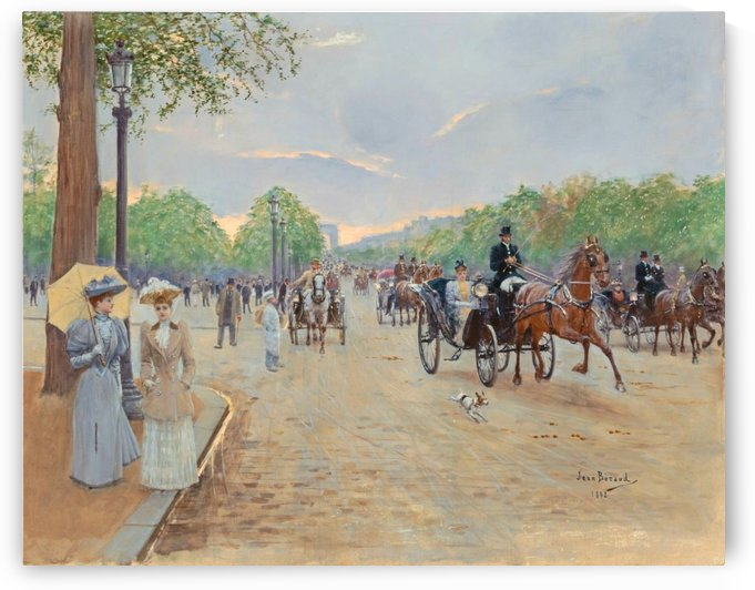 Sur les Champs Elysees by Jean Beraud
