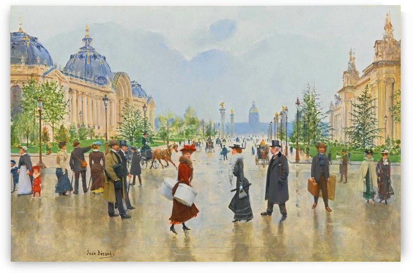 A rainy day in Paris by Jean Beraud