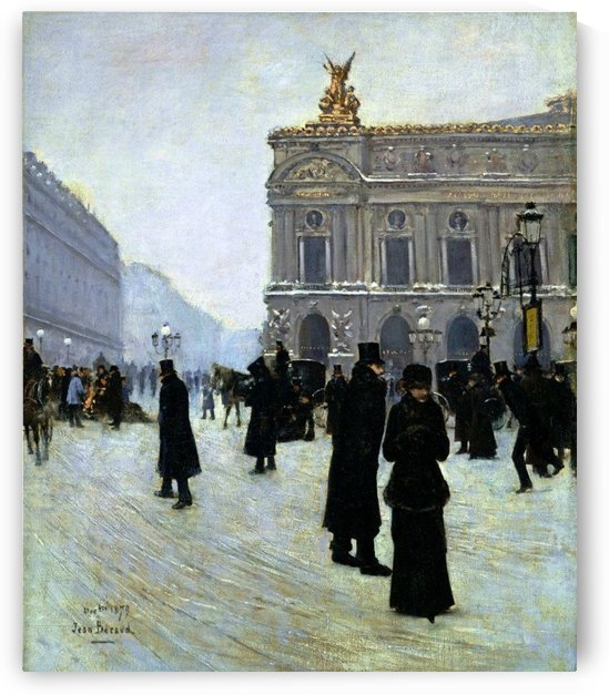 Outside the opera by Jean Beraud