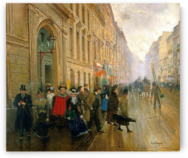 Leaving Conservatoire, 1899 by Jean Beraud