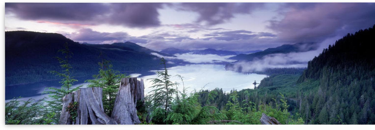 Fv5459, Ron Watts; Canada, British Columbia, Vancouver Island, Nitinat Lake, Dusk by PacificStock