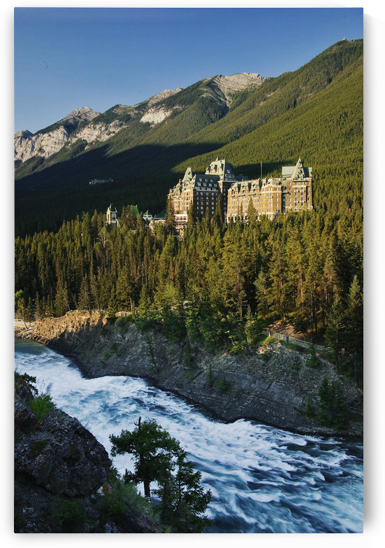 Banff Springs Hotel And Bow Falls From Surprise Point, Banff National Park, Alberta. by PacificStock