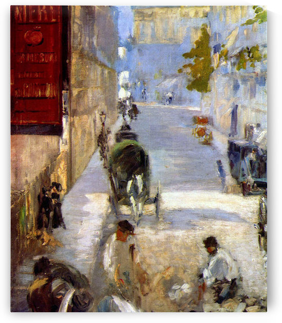 Road workers, rue de Berne (detail) by Manet by Manet
