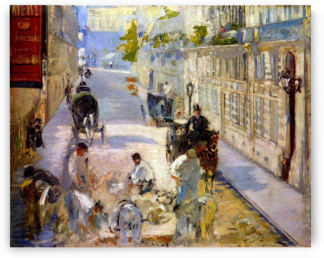 Road workers, rue de Berne by Manet by Manet