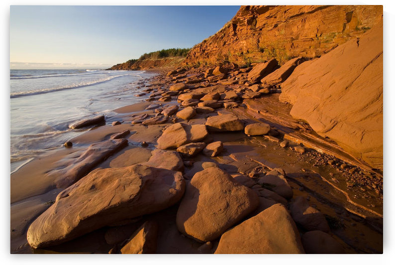 Sandstone Cliffs, Cape Turner, Prince Edward Island National Park by PacificStock