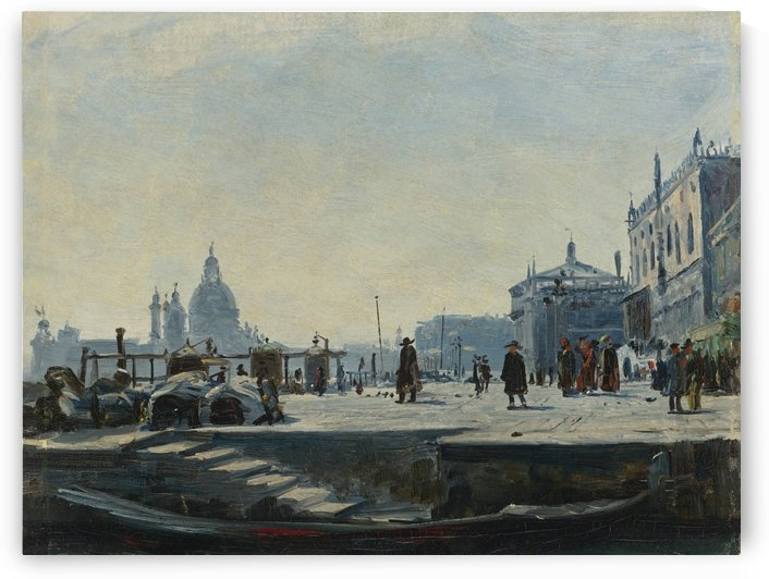 Venice, looking West towards the Palazzo Ducale and the Punta Della Dogana by Ercole Calvi