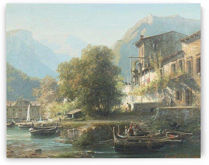 Riverside, 1869 by Ercole Calvi