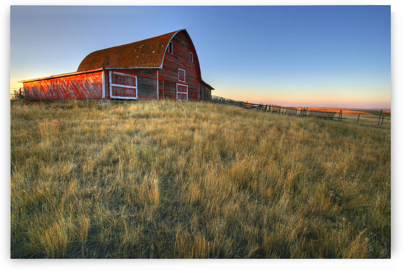 Old Red Barn Near Val Marie, Saskatchewan by PacificStock