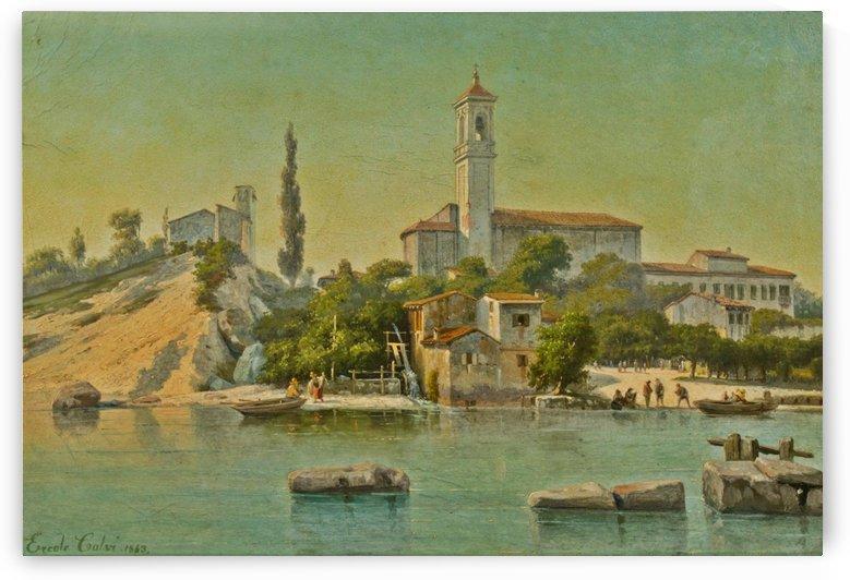 Rivoltella sul lago di Garda, 1863 by Ercole Calvi