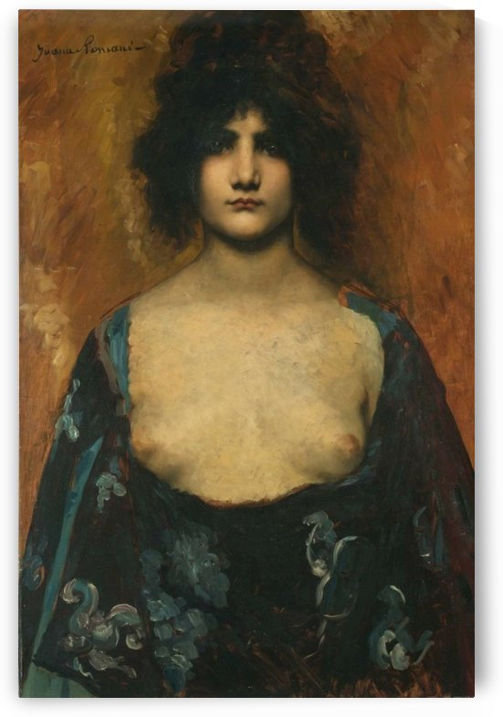 Portrait of a sensual young lady by Juana Romani