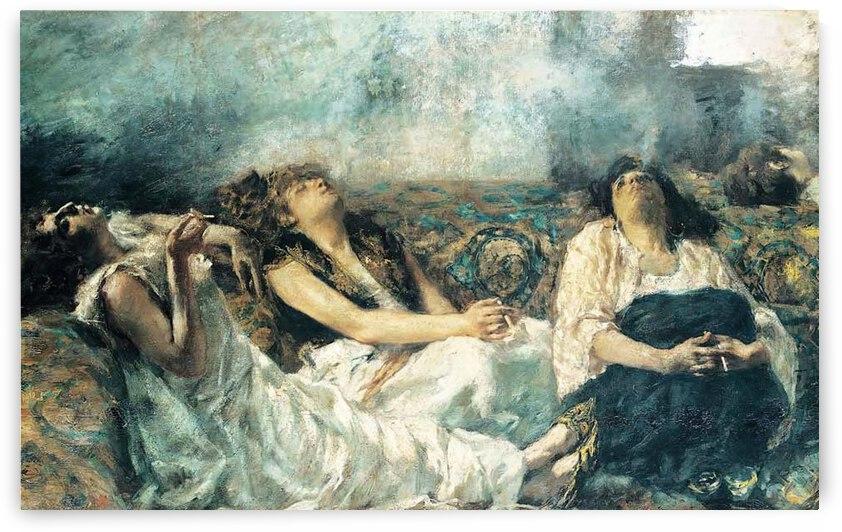 The Hashish Smokers by Gaetano Previati