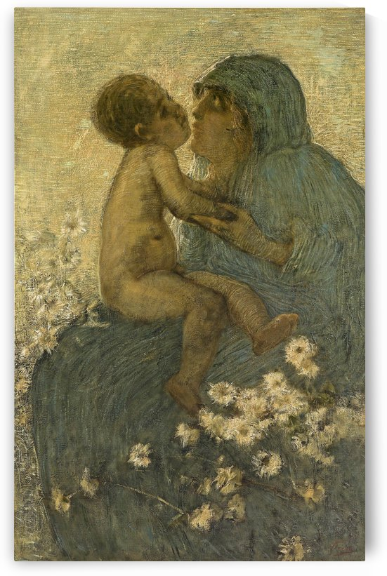 Mother love by Gaetano Previati