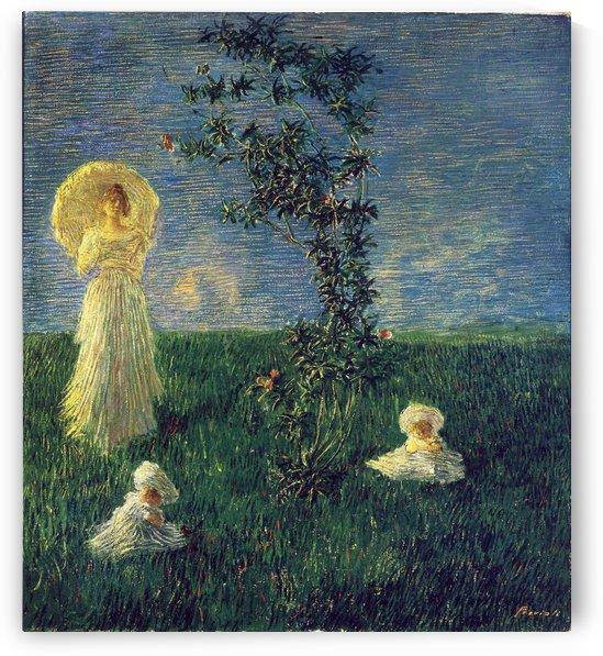In the Meadow by Gaetano Previati